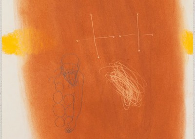 01 Ténéré (Wind und Wege), 2011, Pastellkreide Buntstift auf Papier, 62 x 43 cm