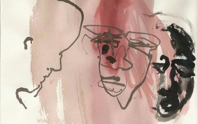 02 Barcelo 4, 2011, Tusche auf Bütten, 23 x 30cm