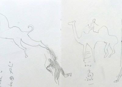 02 Saharaskizzenbuch 2010-2011, Bleistift, 13 x 42 cm