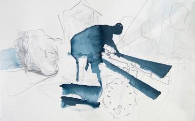03 Kontiki 2013 , Bleistift, Tusche auf Papier, 26 x 39 cm