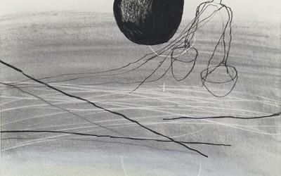 03 Ténéré 2010, Pastellkreide, Kohle, Bunstift auf Papier, 62 x 43 cm