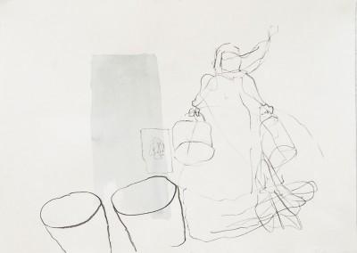 04 Das Turiner Pferd, 2012, Kreide, Tusche auf Bütten, 26 x 39 cm