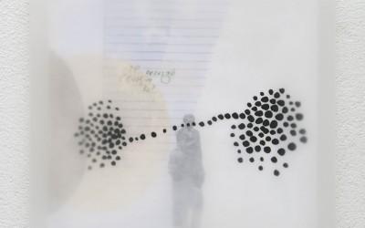 04 Schattenlicht, 2011, Acryl, Collage, Wachs auf Holz, 35 x 35 cm