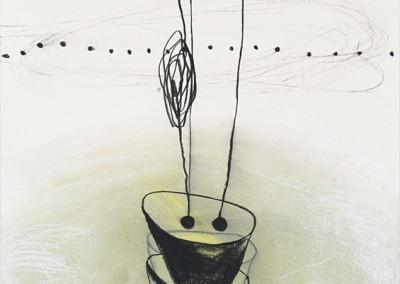 04 Ténéré 2010, Pastellkreide, Kohle, Bunstift auf Papier, 62 x 43 cm