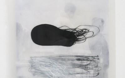 06 Fukushima II, 2011, Acrylfarbe, Collage, Wachs, Pigment auf Holz, 35 x 35 cm