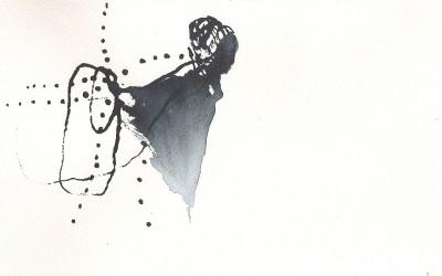 07 Sinai-Skizzenbuch 2012, Tusche auf Aquarellbütten, 15 x 23 cm
