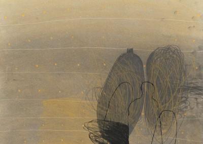 07 Ténéré, 2010, Pastellkreide, Buntststift auf Papier, 62 x 43 cm