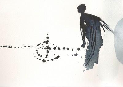 08 Sinai-Skizzenbuch 2012, Tusche auf Aquarellbütten, 15 x 23 cm