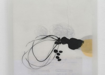 09 Traum 2010, Acryl, Collage, Wachs auf Holz, 35 x 35 cm