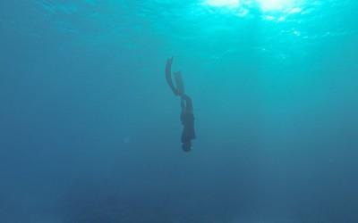 09 upside down, 2014, Filmstill, Unterwasservideo
