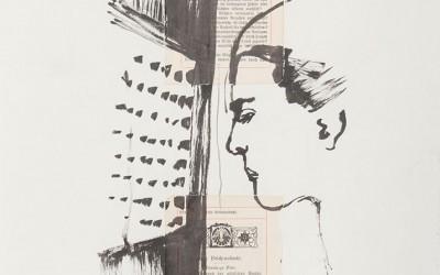 10 Kreuzweg, 2014, Collage, Tusche auf Papier, 35 x 25 cm