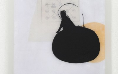 11 Traum, Acryl, Collage, Wachs auf Holz, 2010, 35 x 35 cm
