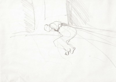 12 Pina, 2011, Bleistift auf Papier, 21 x 30 cm