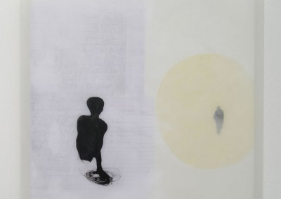 13 Feldpost I, 2009, Acryl, Wachs, Collage auf Holz, 54 x 54 cm