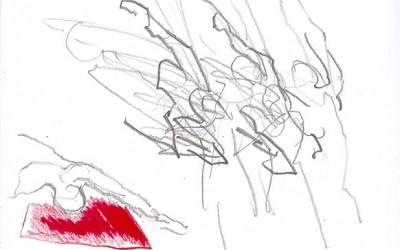 13 Pina, 2011, Bleistift, Tusche auf Papier, 30 x 21 cm