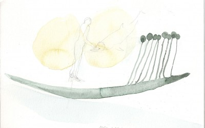 14 Marsa Alam Serie 2013, Aquarell, Bleistift auf Bütten, 15 x 24 cm