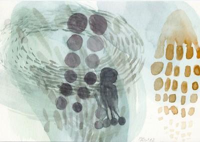 15 Marsa Alam Serie 2013, Aquarell, Bleistift auf Bütten, 15 x 24 cm