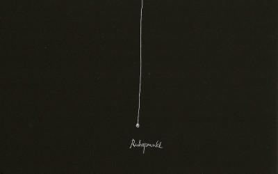15 Serie Nachtspuren - kleine Trance, 2008, Ritzzeichnung auf Schabekarton, 15x20 cm
