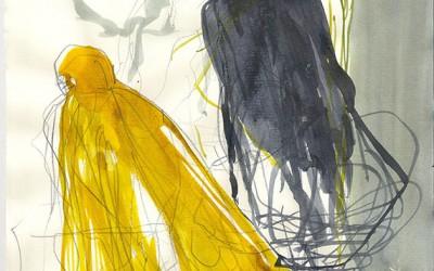 15 Stein der Geduld, 2013, Bleistift, Tusche auf Papier, 30 x 21 cm