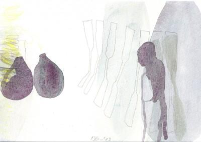 16 Marsa Alam Serie 2013, Aquarell, Bleistift auf Bütten, 15 x 24 cm