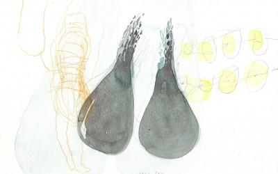 17 Marsa Alam Serie 2013, Aquarell, Bleistift auf Bütten, 15 x 24 cm