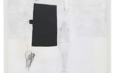 17 Schattenlicht, 2008, Acryl, Collage, Wachs auf Leinwand, 54 x 54 cm
