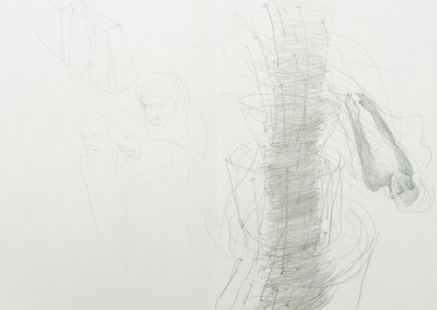 19 Skizzenbuch, 2011, Bleistift, 30 x 42 cm