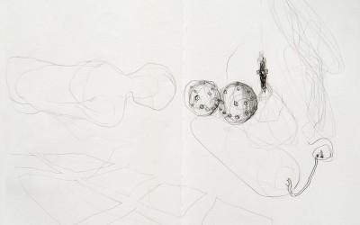 21 Skizzenbuch 2014, Bleistift auf Papier, 29 x 42 cm