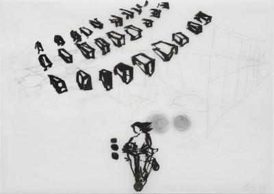 23 Brundibar, 2014, Tusche, Bleistft auf Transparentpapier, 29 x 42 cm