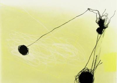 Serie schwer gegen leicht 2006, Pastell auf Papier, 62x43cm