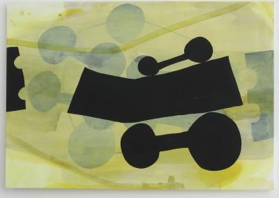 großer Wagen 2002, Acryl auf Leinwand, 140 x 200 cm