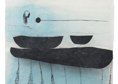 im fluss (spuren_1) 2018, 140 x 77 cm
