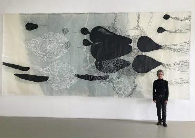 Gegenströmung, Forum kunst Rottweil, 2019, 2,85 x 6,20 m
