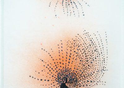 aus der Serie Elba, 2020, Tusche, Acryl, Wachs / Japanpapier,46 x 32 cm (1)