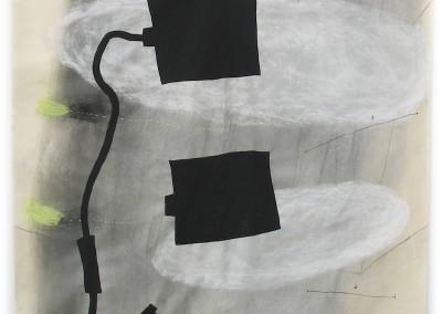 1+1 Wolken 2006, 200x 183 cm, Kohle, Kreide, Acryl  Japanpapier