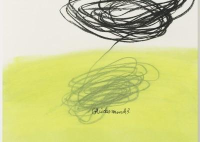 Glücksmensch, 2006, Pastellkreide, Kohle auf Papier, 62 x 43 cm