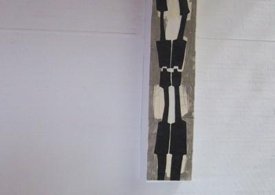 Zeitwende, 2002, Installation Johanneskirche RV, 7 Monitore in Wachssäilen, Videoloops, 2002